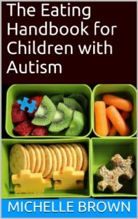 A brown front cover with a photo of four tupperware boxes containing different food items - kiwi, strawberyy, carrot sticks, crackers, cheese and a sandwich. Some of the food is cut into puzzle pieces.