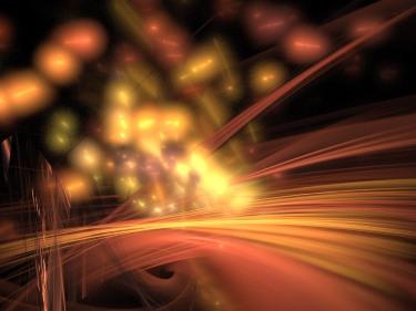 abstract streetlights